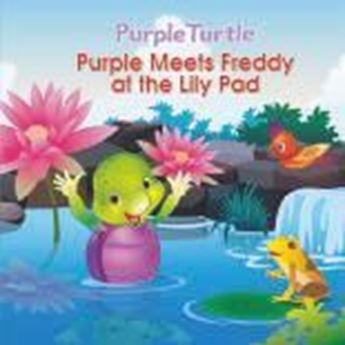 Picture of Purple Meets Freddy at the Lily Pad